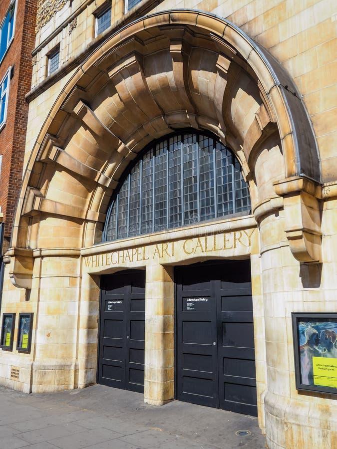 Художественная галерея 'Уайтчепел' и место проведения выставки Главный вход, рядом со станцией метро Algate Закрыто из-за блокиро стоковая фотография