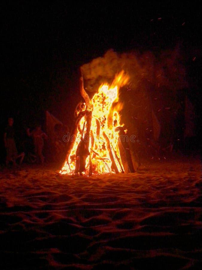 Художественная красная партия пляжа стоковая фотография