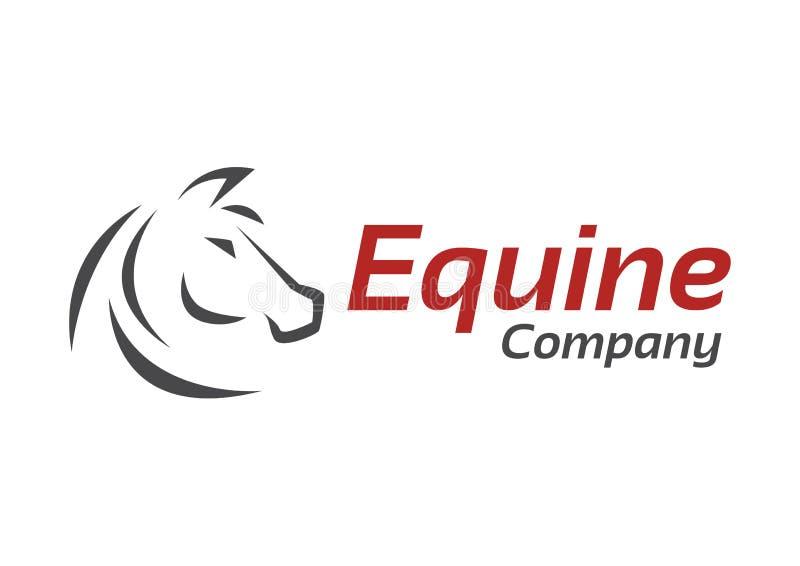 Художественное произведение лошади для equine компании иллюстрация штока