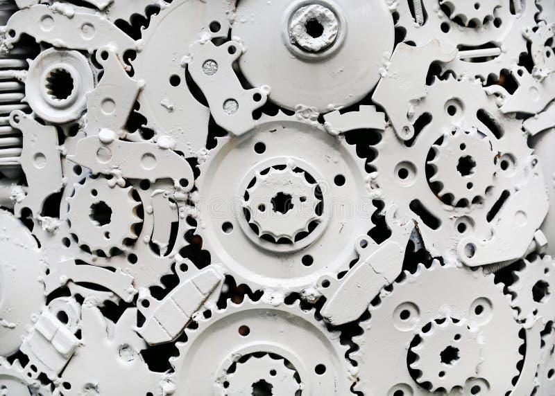Художественное произведение металла ремесленничества от используемых запасных частей стоковая фотография rf