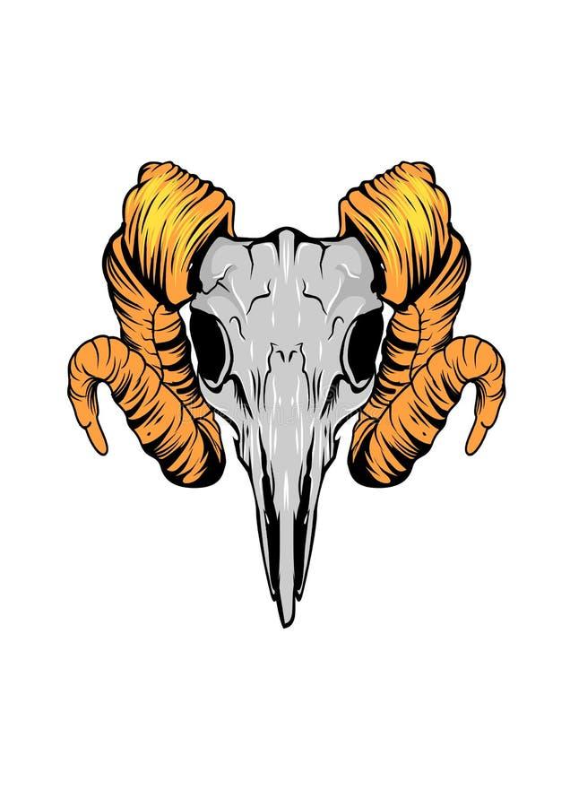 Художественное произведение черепа животное иллюстрация штока