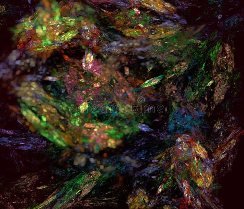 Художественное произведение Abstrct цифров Технологии графиков фрактали бесплатная иллюстрация