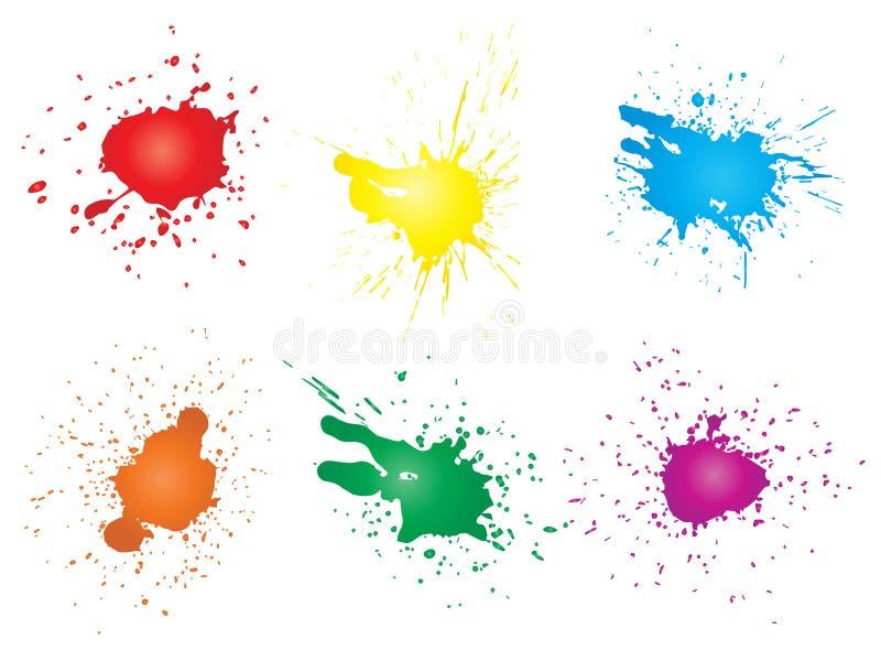 Художественное grungy падение краски, ручной работы выплеск иллюстрация вектора