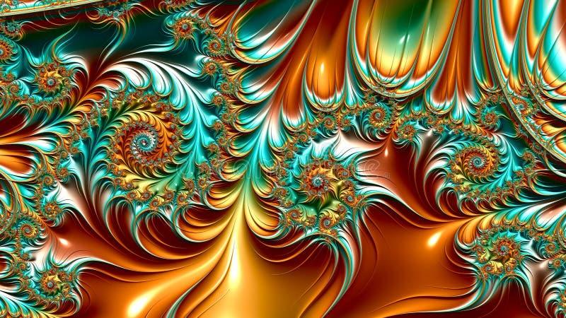 Художественные произведения фрактали иллюстрация вектора