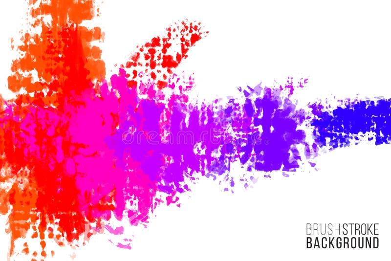 Художественный фон Вектор с щеткой брызгает Почистьте предпосылку щеткой взгляда краски с красочной рукой покрасил пятна Радуга бесплатная иллюстрация