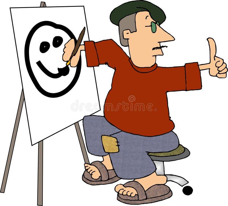 художник голодая бесплатная иллюстрация