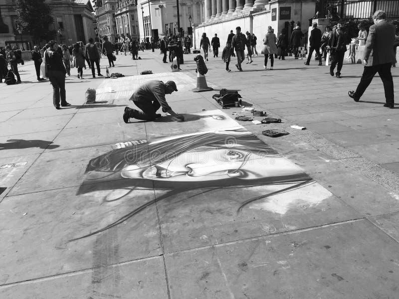 Художник Лондона стоковая фотография rf
