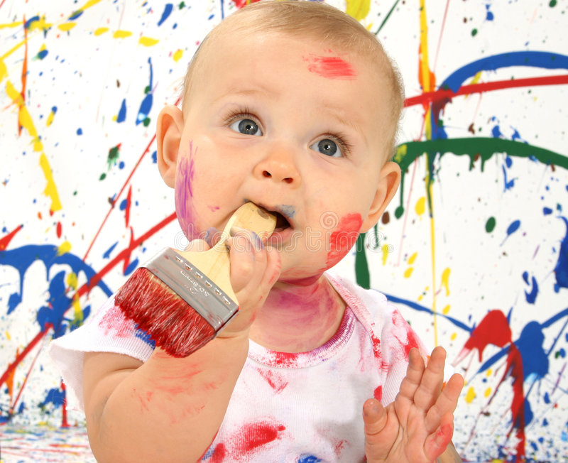 художнический младенец стоковая фотография