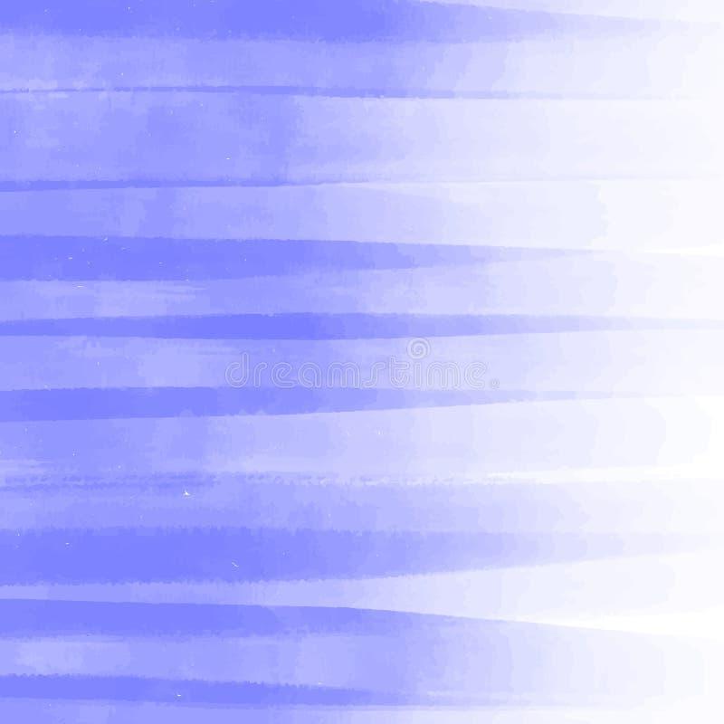 Художнический фон, вектор с щеткой штрихует фиолетовые цвета, предпосылку взгляда акварели с красочными покрашенными пятнами иллюстрация штока