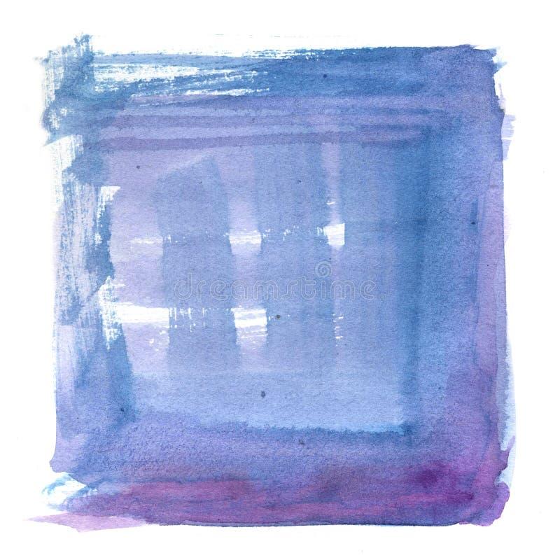 Художнической иллюстрация акварели покрашенная рукой Градиент Minimalistic голубой и фиолетовый бесплатная иллюстрация