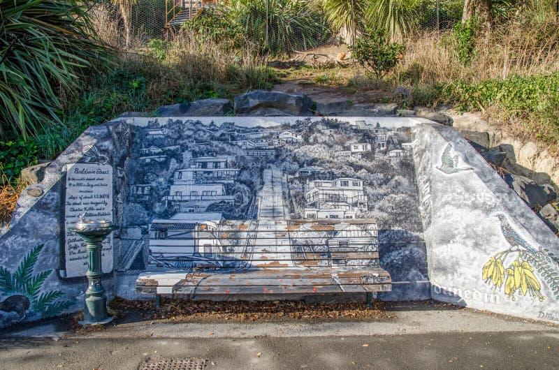 Художественное произведение в улице Baldwin, Новой Зеландии стоковое фото