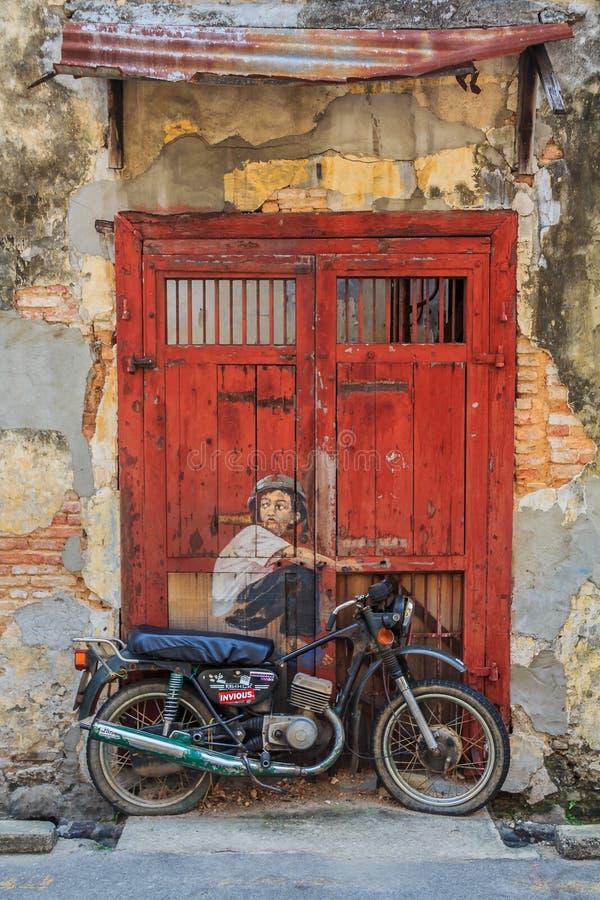 Художественное произведение стены Penang иллюстрация штока