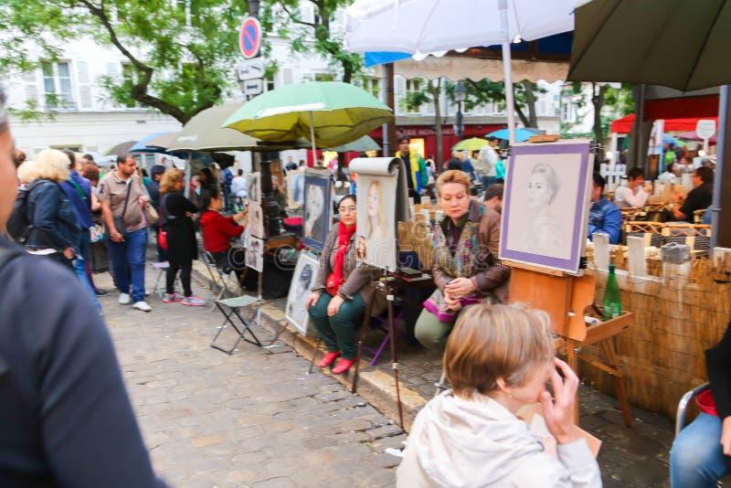 Художники улицы - Париж стоковая фотография rf