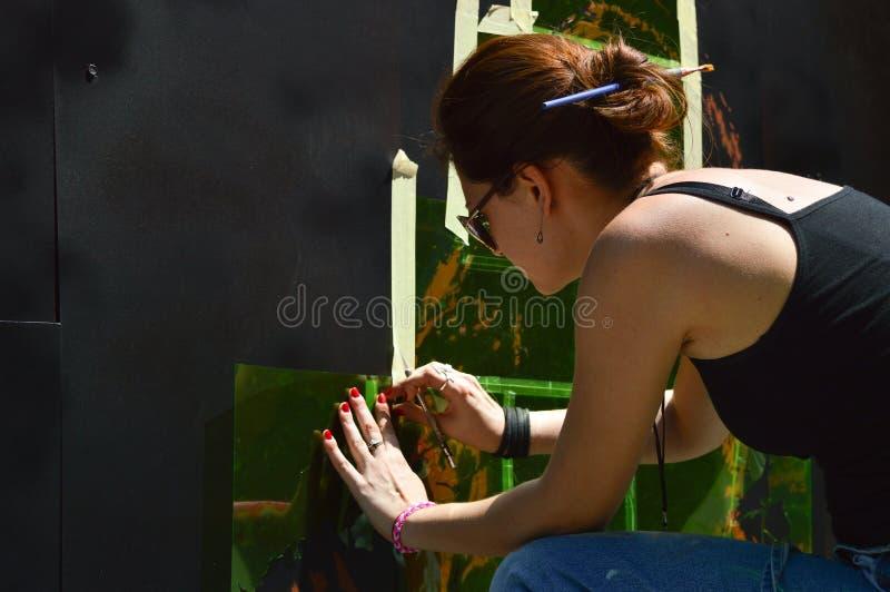 Художник граффити стоковые изображения