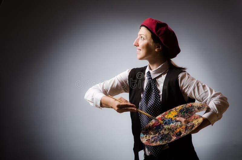 Художник женщины в концепции искусства стоковые изображения rf