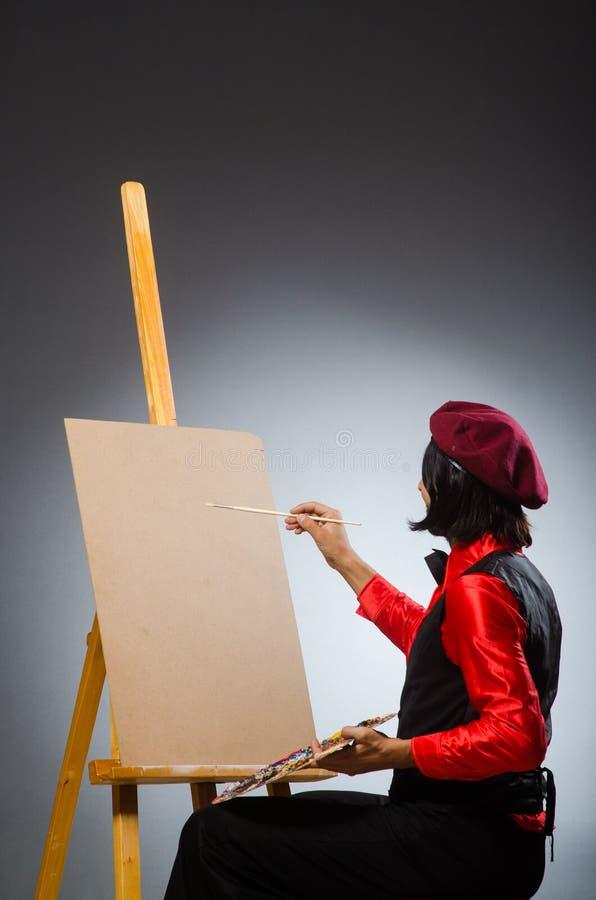 Художник человека в концепции искусства стоковое фото