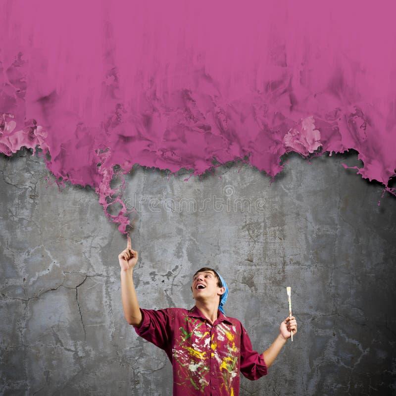 Download Художник человека стоковое изображение. изображение насчитывающей сновидение - 41650855