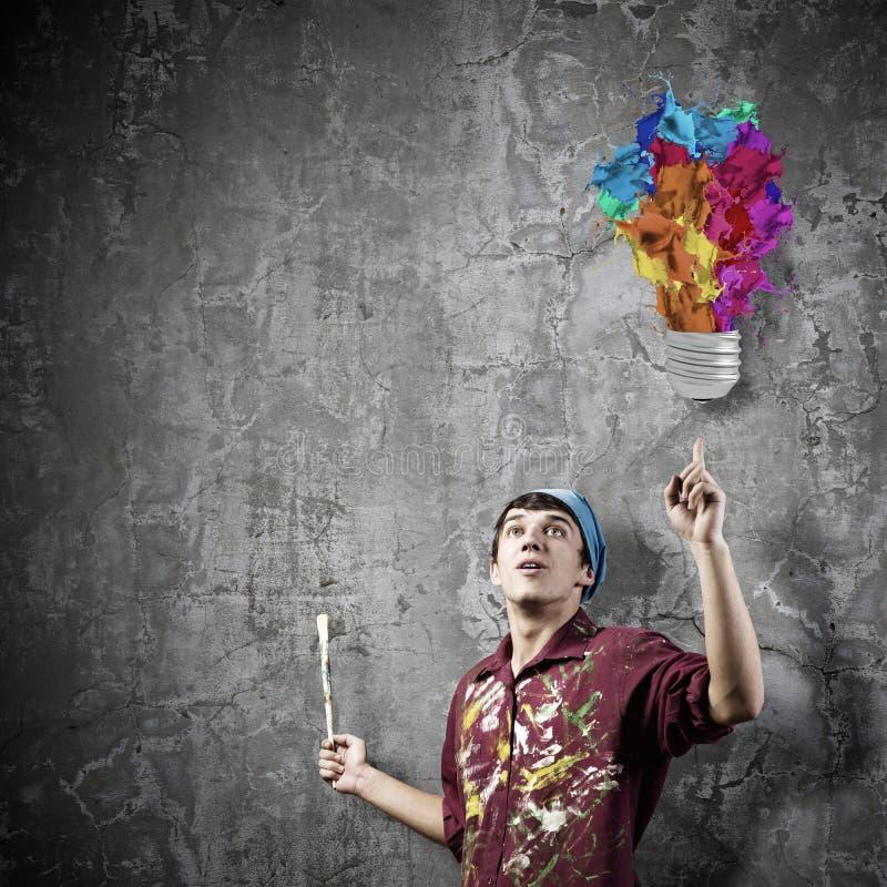 Download Художник человека стоковое изображение. изображение насчитывающей цвет - 41651023