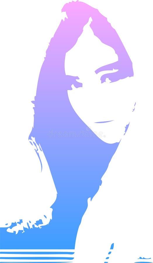 художническая девушка иллюстрация штока