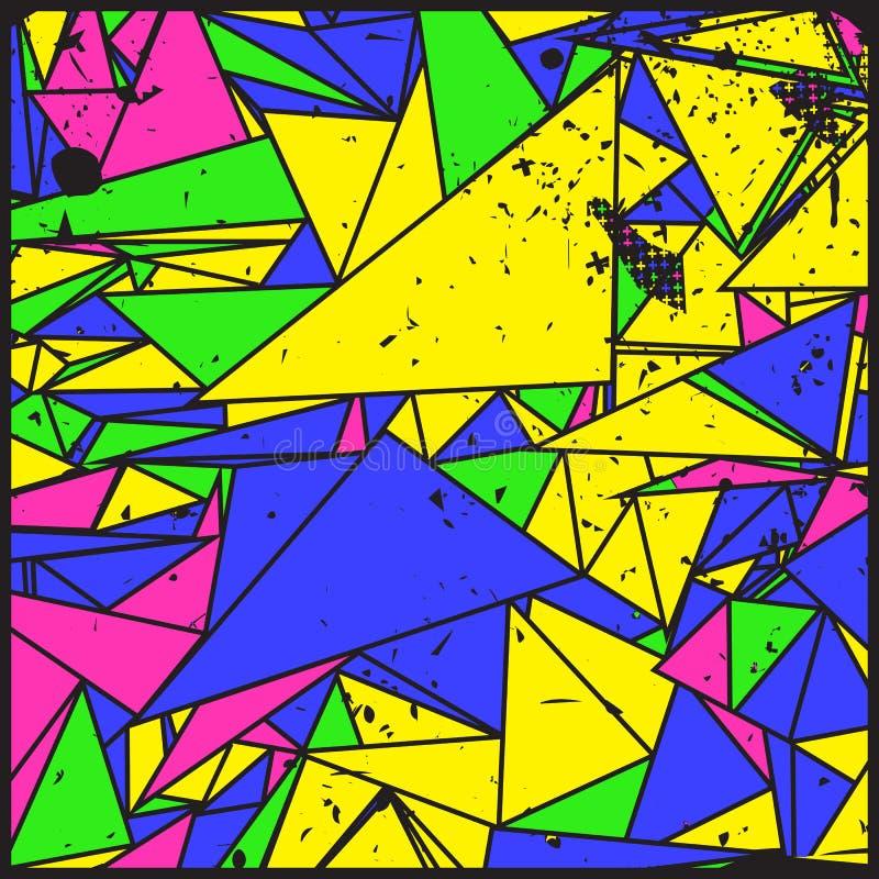 Художническая декоративная геометрическая предпосылка grunge иллюстрация вектора