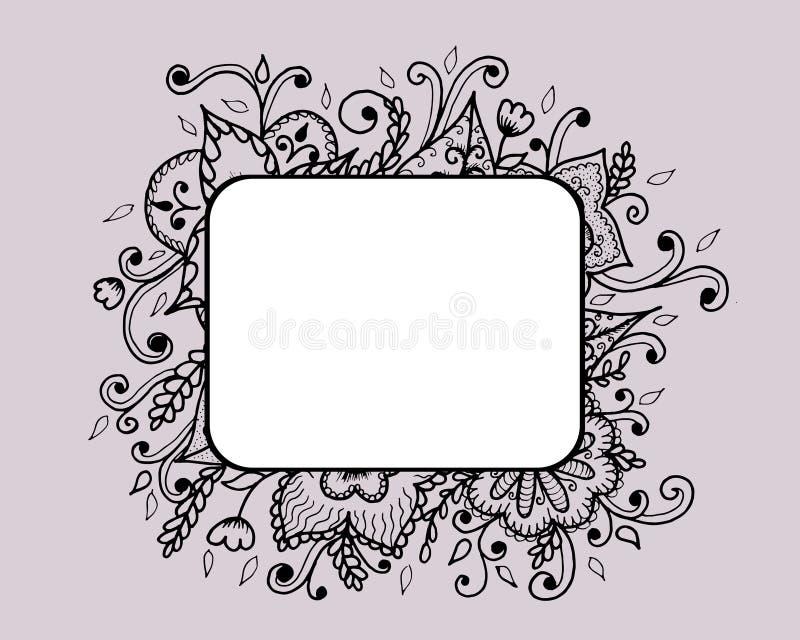 Художническая яркая карточка с цветочным узором бесплатная иллюстрация