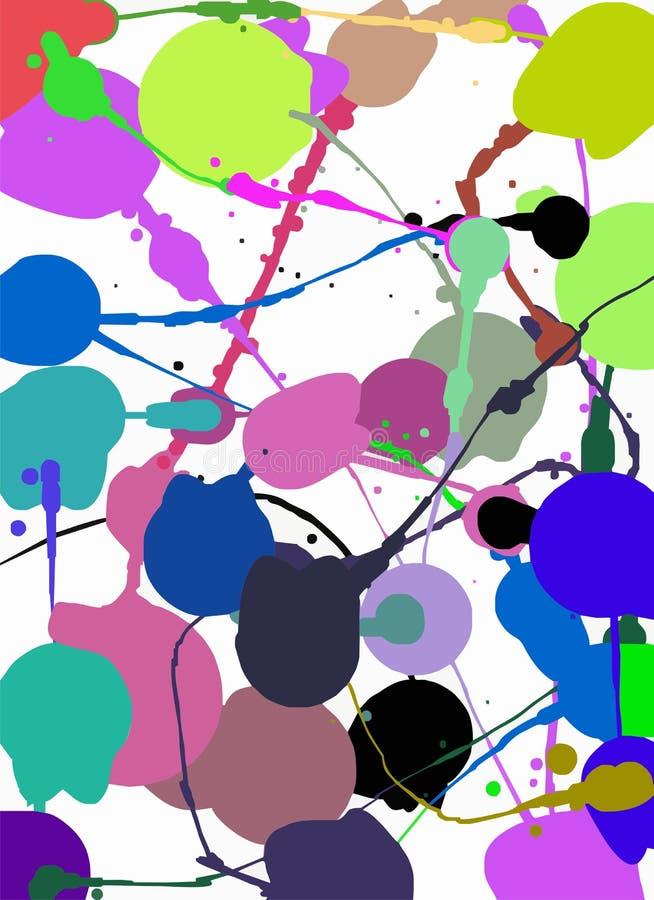 Художнические абстрактные ходы пятна и краски предпосылки Запишите дизайн, прикройте, дизайн печати, журнал Вектор брошюры бесплатная иллюстрация