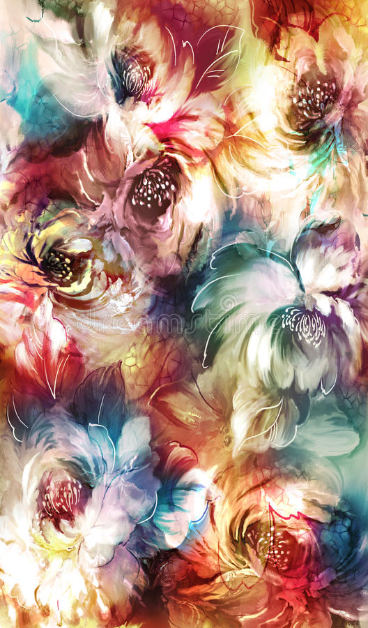 Художнические цветки стоковое изображение