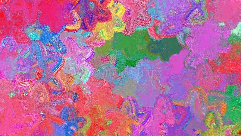 Художнический конспект знамени цвета предпосылки иллюстрация вектора