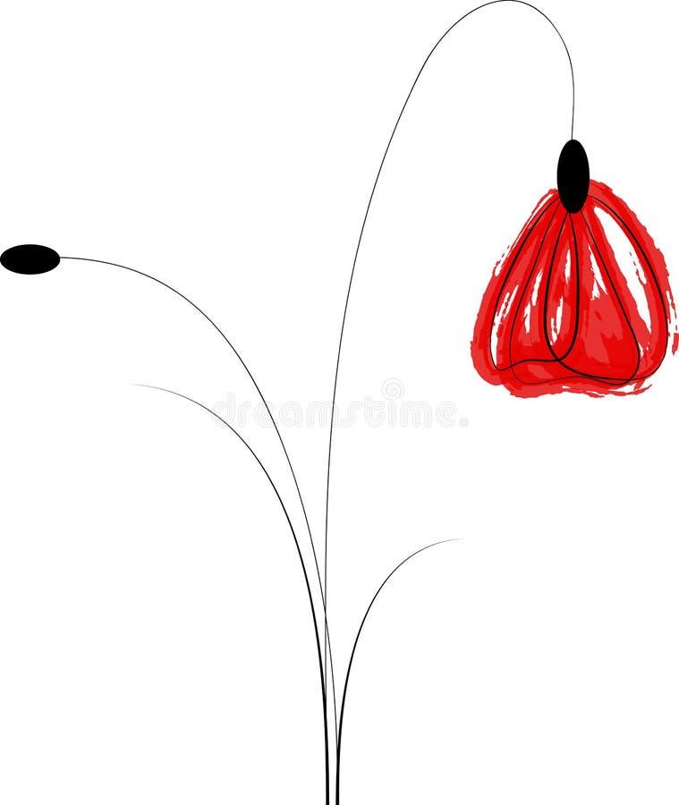 Художнический цветок мака стоковая фотография rf