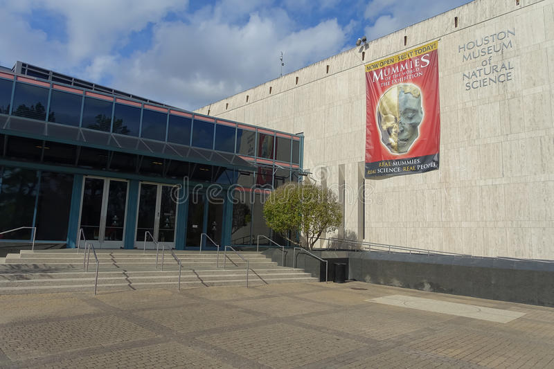 ХЬЮСТОН, США - 12-ОЕ ЯНВАРЯ 2017: Взгляд от внешней стороны здания на Национальном музее естественной науки в Орландо стоковые изображения