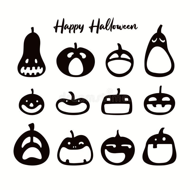 Хэллоуин: коллекция серуэт насосов иллюстрация штока