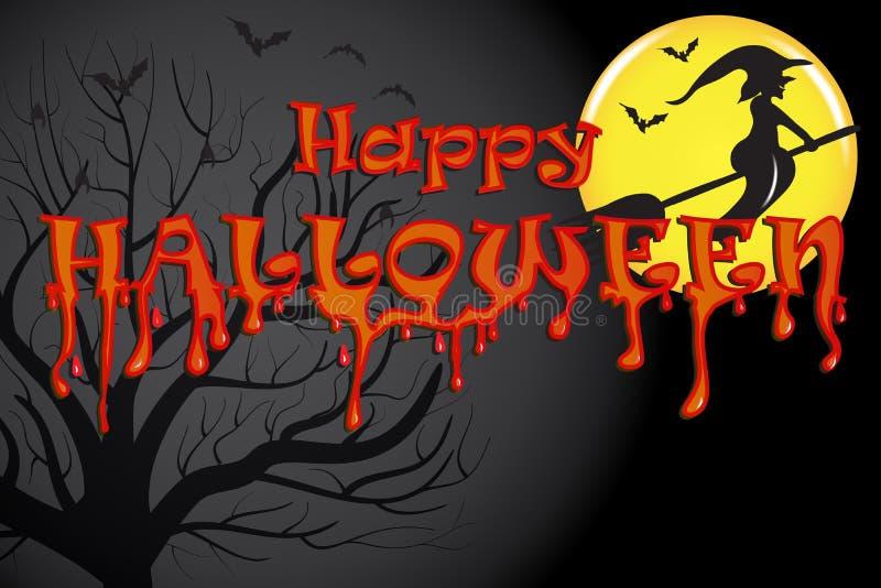 Хэллоуин: прошлое ведьм иллюстрация штока