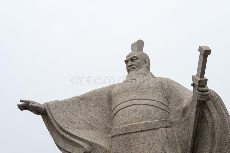 ХЭНАНЬ, КИТАЙ - 28-ое октября 2015: Статуя Cao Cao (155-220) на Weiwud стоковые фотографии rf