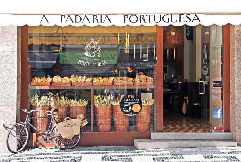 Хлебопекарня в Лиссабоне стоковое фото rf