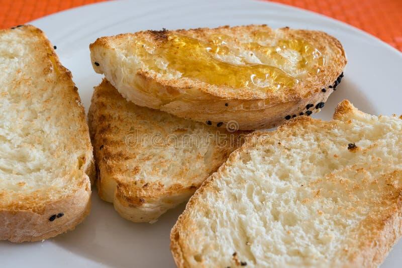 Хлеб и мед стоковая фотография rf