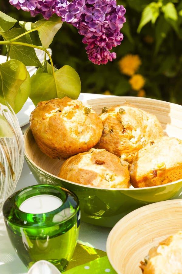Хлеб, который служат outdoors стоковая фотография rf