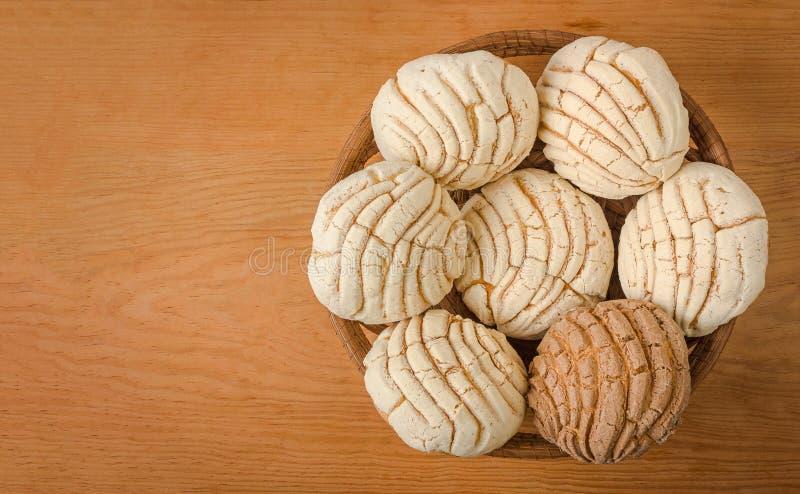 Хлеб помадки Conchas мексиканца стоковые фото