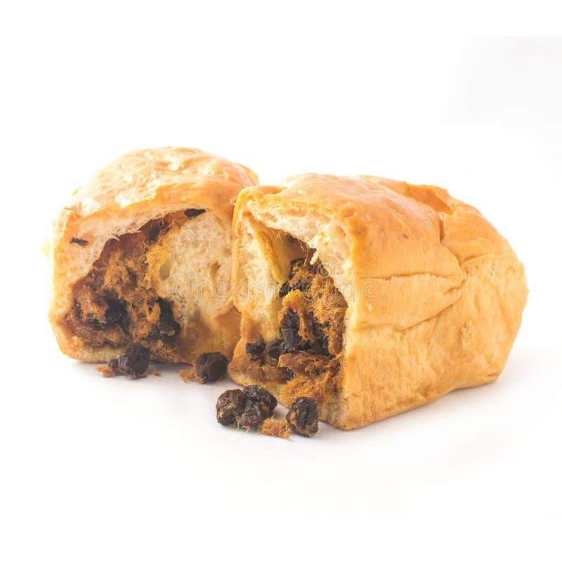 Хлеб при высушенный Shredded свинина изолированный на белой предпосылке стоковые изображения