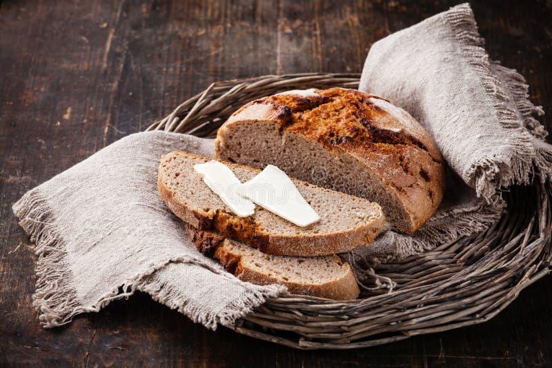 Хлеб с маслом стоковые фотографии rf