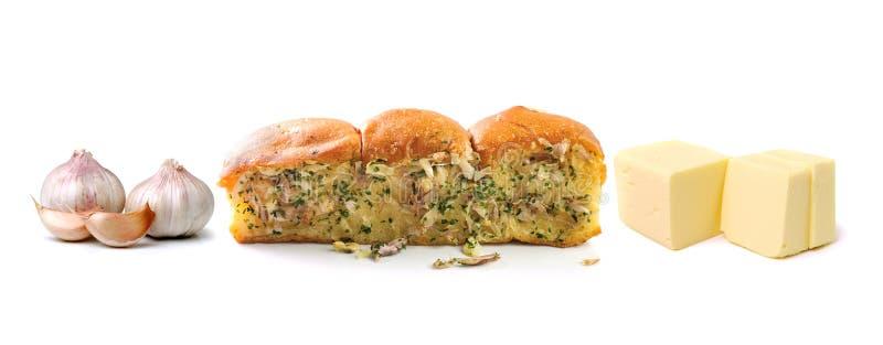 Хлеб чеснока и травы стоковые изображения rf