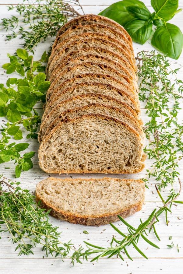Хлеб sourdough трав Провансали стоковые изображения