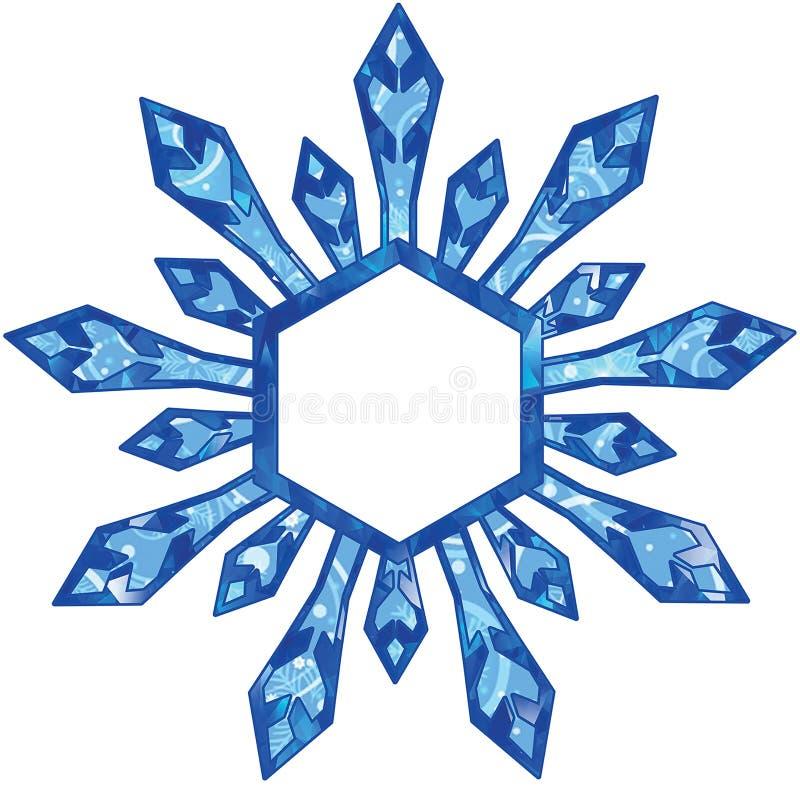 Хлопья снежка бесплатная иллюстрация