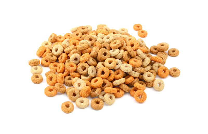 Хлопья для завтрака обручей Multigrain стоковое изображение