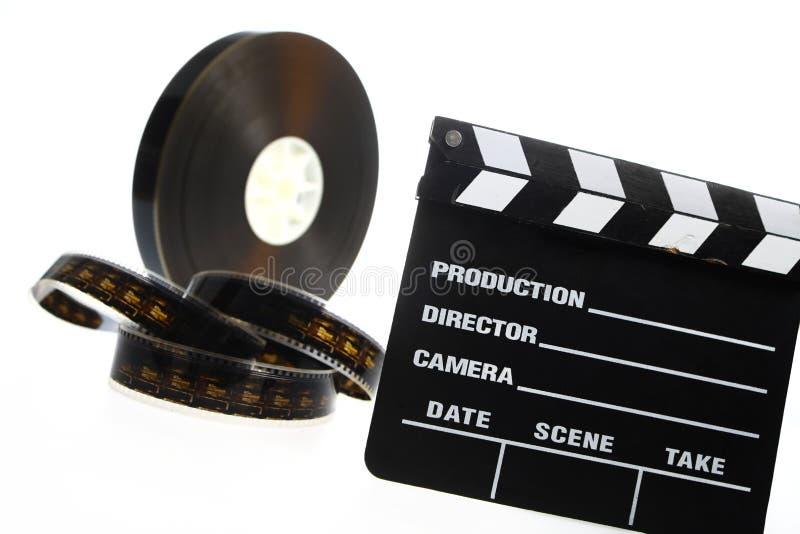Хлоп вьюрка и кино фильма стоковая фотография