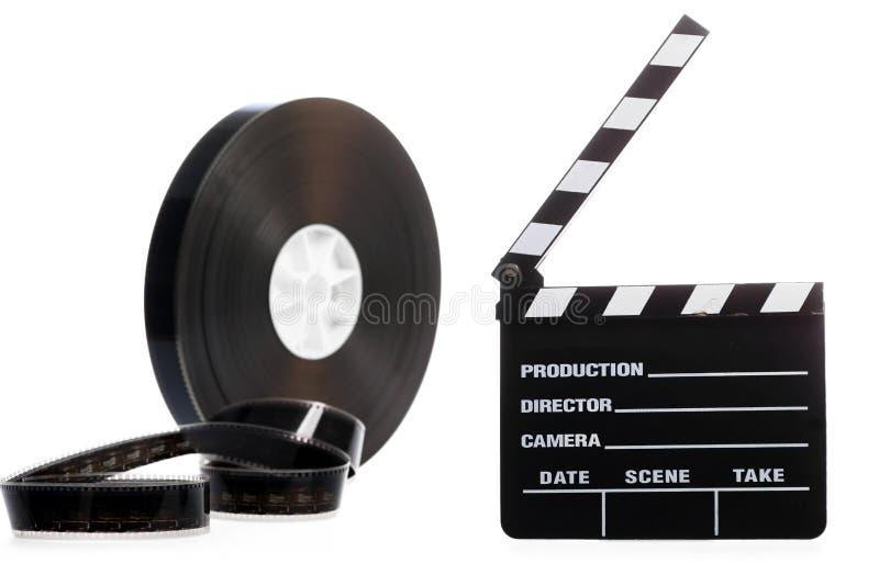 Хлоп вьюрка и кино фильма стоковая фотография rf