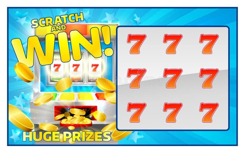 Царапина лотереи и карточка выигрыша иллюстрация штока