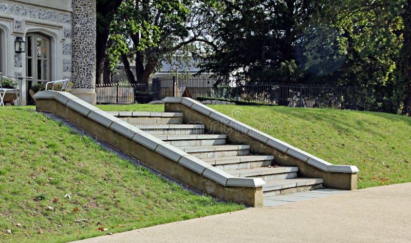Царственные шаги замока стоковое изображение