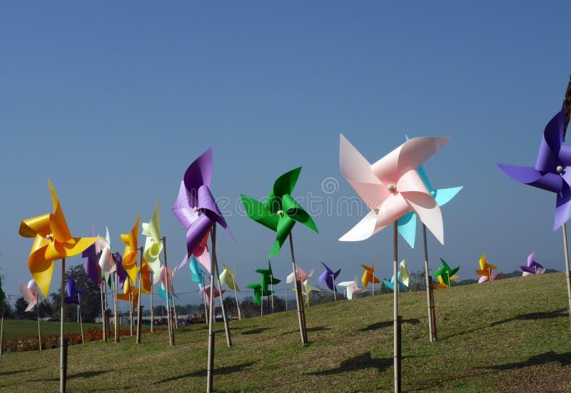 цветастая ветрянка игрушки стоковое изображение