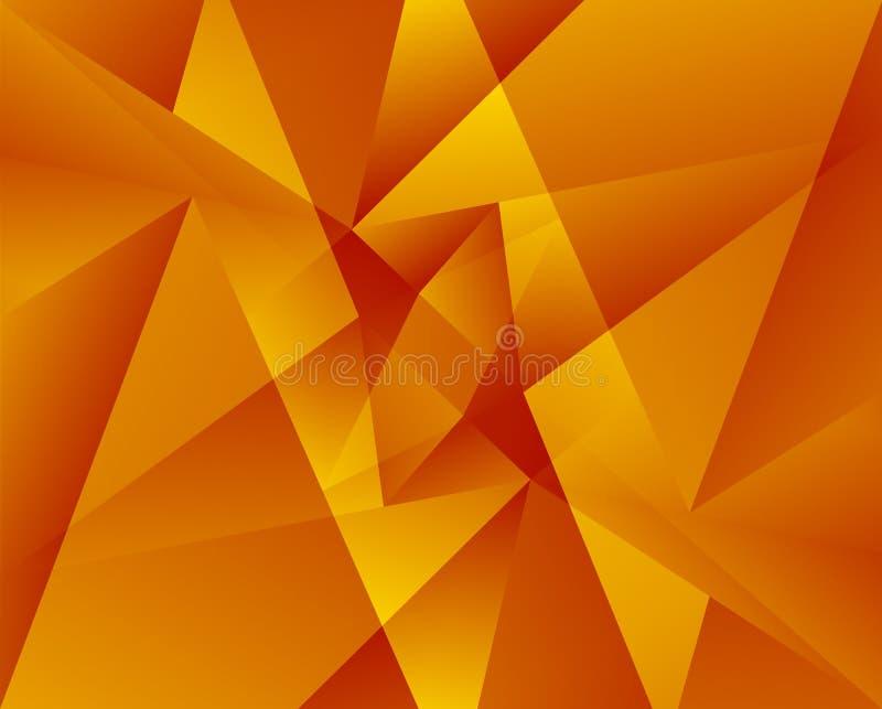 цветастая геометрическая картина Триангулярные смешанные формы Аннотация бесплатная иллюстрация
