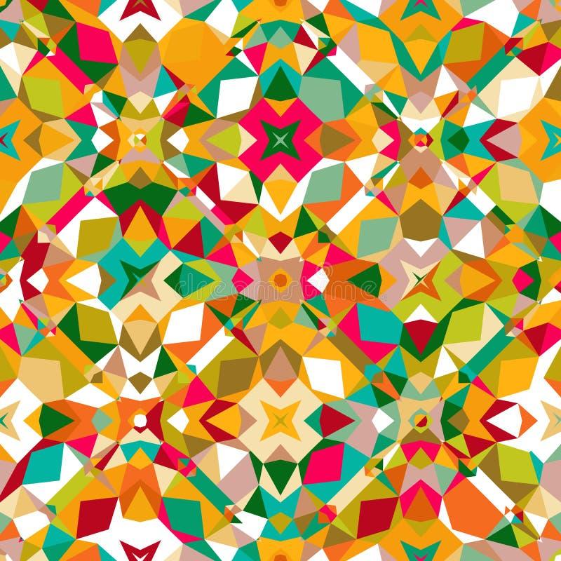 цветастая геометрическая картина иллюстрация вектора